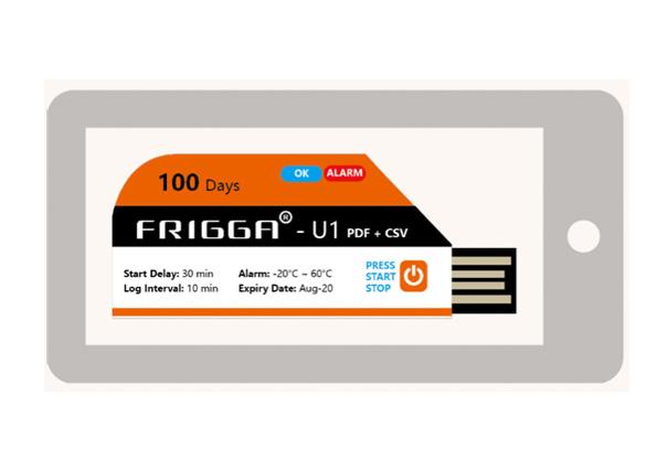 U1 U2 FRIGGA Registradores de temperatura